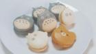 Macarons com formas de personagens japoneses.